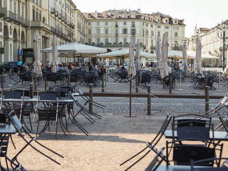 TURIN, ITALY - CIRCA AUGUST 2017: Piazza Vittorio Emanuele II square Editorial
