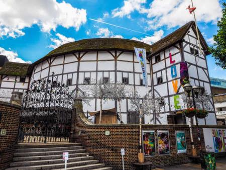 LONDON, UK - CIRCA JUNE 2017: The Shakespeare Globe Theatre, high dynamic range Redactioneel