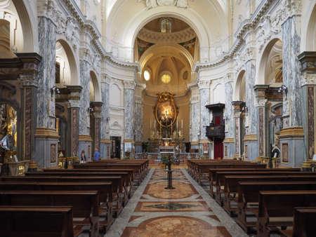 TURIN, ITALY - CIRCA AUGUST 2017: Santissima Annunziata parish church