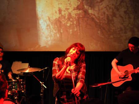 TURIN, ITALY - NOVEMBER 26, 2017: Lydia Lunch and Cypress Grove concert at Blah Blah