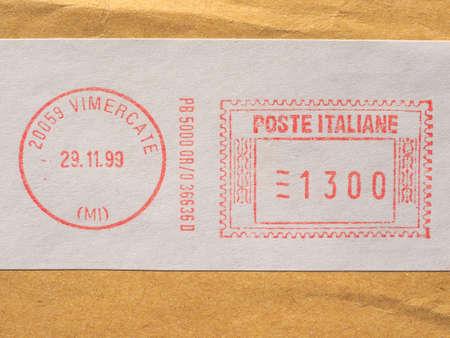 VIMERCATE, ITALY - CIRCA NOVEMBER 2017: Italian postage meter