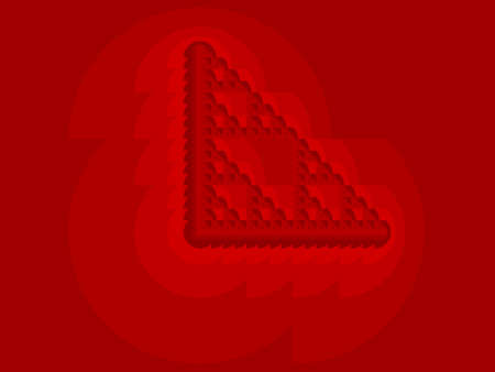 Red Eta Sierpinski set abstract fractal illustration useful as a background Фото со стока