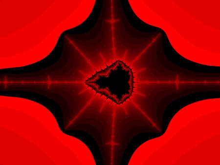Red Mandelbrot set abstract fractal illustration useful as a background