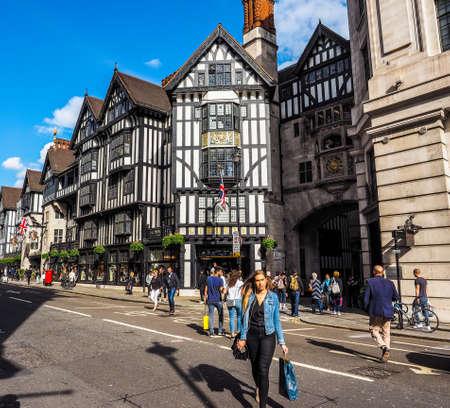 LONDON, UK - CIRCA JUNE 2017: Liberty luxury goods department store, high dynamic range