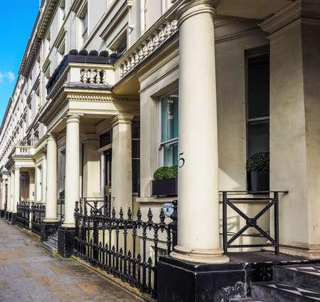 LONDON, UK - CIRCA JUNE 2017: Terraced houses in Notting Hill (high dynamic range) Redactioneel