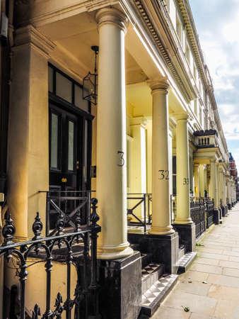LONDON, UK - CIRCA JUNE 2017: Terraced houses in Notting Hill, high dynamic range Redactioneel