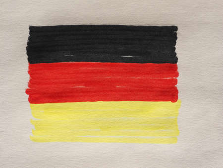 Hand drawn German national flag of Germany, Europe