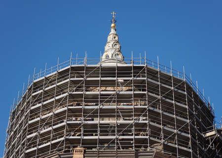 Cappella della Sindone que significa Capilla de la Sábana Santa en Turín, Italia Foto de archivo