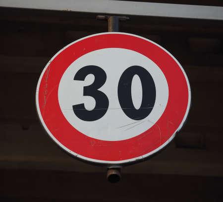 Regulatory signs, maximum speed limit 30 traffic sign