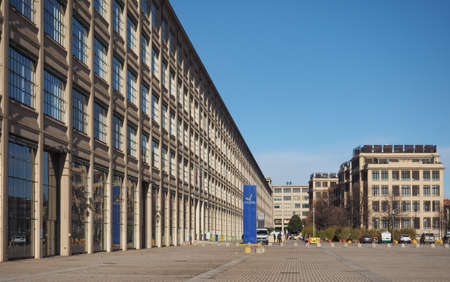 TURIN, ITALY - CIRCA JANUARY 2018: The Lingotto centre designed by Matte Trucco in 1919 as a Fiat car factory is now a conference and business centre restored by Renzo Piano