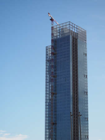 TURIN, ITALY - CIRCA JANUARY 2018: Regione Piemonte skyscraper designed by Massimiliano Fuksas will host the new headquarters of Piedmont Region local government