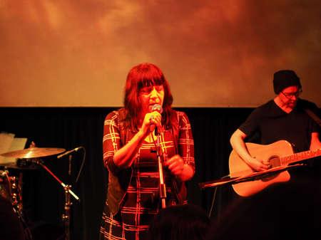 TURIN, ITALY - NOVEMBER 26, 2017: Lydia Lunch and Cypress Grove concert at Blah Blah Banco de Imagens - 92973991