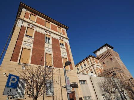 SETTIMO TORINESE, ITALY - CIRCA JANUARY 2018: City hall and medieval tower