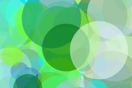 Abstract minimalist green and blue illustration with circles useful as a background