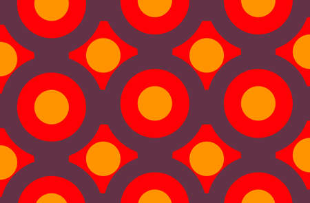 Abstract orange red violet colour background, vintage swinging sixties seventies style Stock Photo
