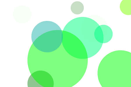 Abstract green illustration with circles useful as a background