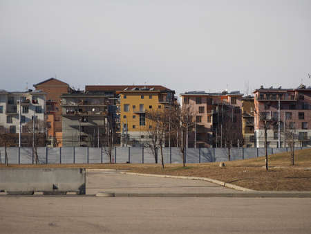 TURIN, ITALY - CIRCA JANUARY 2018: Villaggio Olimpico (meaning Olympic Village) housing Banco de Imagens - 93496308