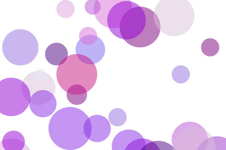 Abstract minimalist violet illustration with circles useful as a background Stock Photo