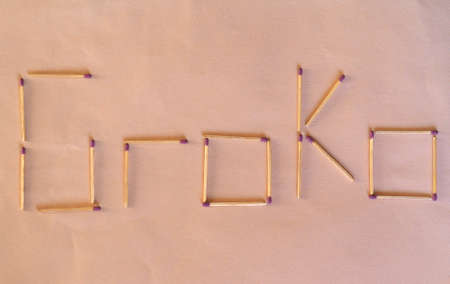 GroKo, short for Grosse Koalition in German (meaning Grand Coalition), written with matches