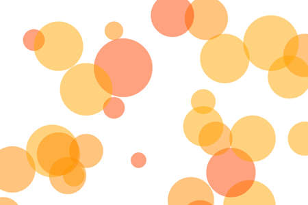 Abstract minimalist orange illustration with circles useful as a background