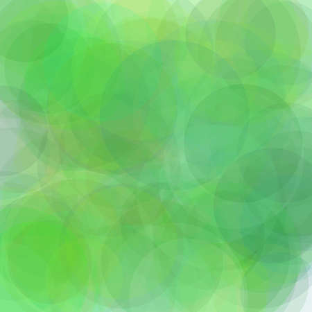Abstract minimalist green illustration with circles useful as a background