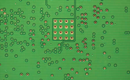 detail of an electronic printed circuit board (PCB) useful as a background Stock Photo
