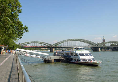 KOELN, GERMANY - CIRCA AUGUST 2009: View of River Rhine