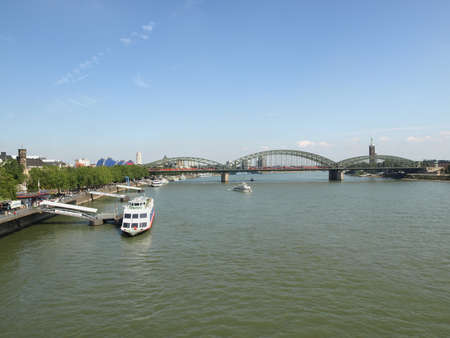 KOELN, GERMANY - CIRCA AUGUST 2009: View of the city from river Rhine