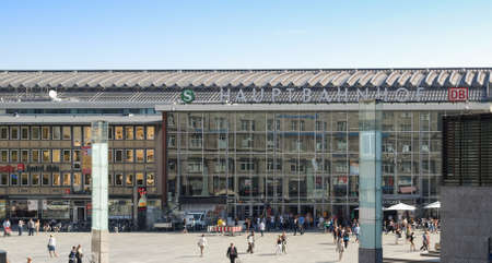 KOELN, GERMANY - CIRCA AUGUST 2009: The Hauptbahnhof (meaning Central Station)