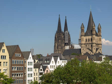 KOELN, GERMANY - CIRCA AUGUST 2009: View of the city and the cathedral