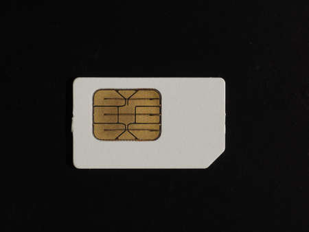 SIM card used in mobile telephony devices such as phones and smart phones