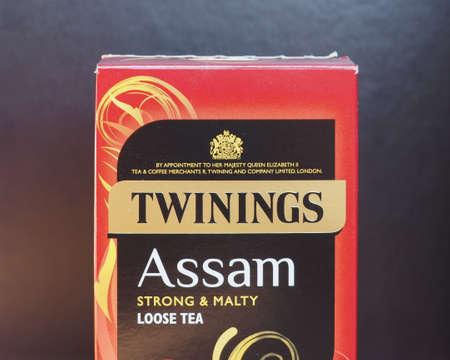 LONDON, UK - CIRCA FEBRUARY 2018: Twinings Assam strong and malty loose tea