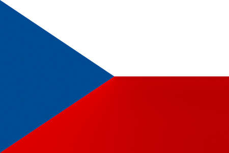 FLAG OF THE CZECH REPUBLIC - PROPORTIONS: 3:  2 - Colours:  Red, Blue, White, texturised