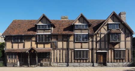 William Shakespeare birthplace in Stratford Upon Avon, UK