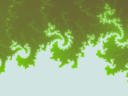 Yellow green Mandelbrot set abstract fractal illustration useful as a background vintage retro colours