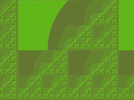 Chartreuse yellow green Eta Sierpinski set abstract fractal illustration useful as a background vintage retro colours