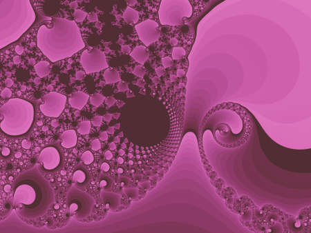 Pink abstract fractal illustration useful as a background vintage retro colours
