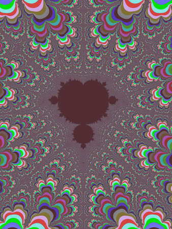 Colour abstract fractal illustration useful as a background vintage retro colours 스톡 콘텐츠