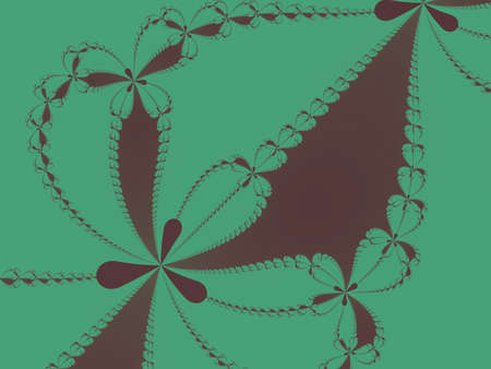 Green Newton set abstract fractal illustration useful as a background vintage retro colours