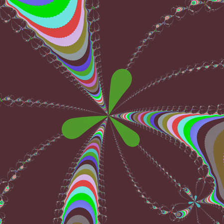 Colour Newton set abstract fractal illustration useful as a background vintage retro colours