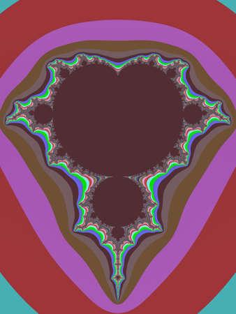 Colour Mandelbrot set abstract fractal illustration useful as a background vintage retro colours 写真素材