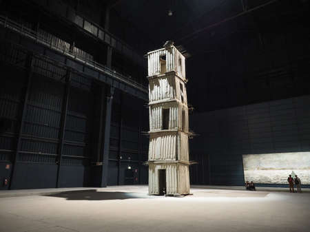 MILAN, ITALY - CIRCA APRIL 2018: Pirelli Hangar Bicocca centre for contemporary art exhibitions with site specific art called Seven Heavenly Places by Anselm Kiefer