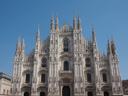 Duomo di Milano (meaning Milan Cathedral) church in Milan, Italy