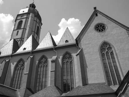St Stephan church in Mainz in Germany in black and white Reklamní fotografie