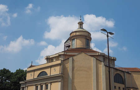 The church of Stimmate di San Francesco d Assisi in Turin, Italy Imagens