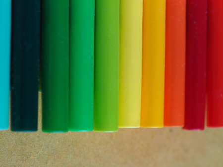 Many different colours useful as a background - azure, green, yellow, orange and red hues Stockfoto
