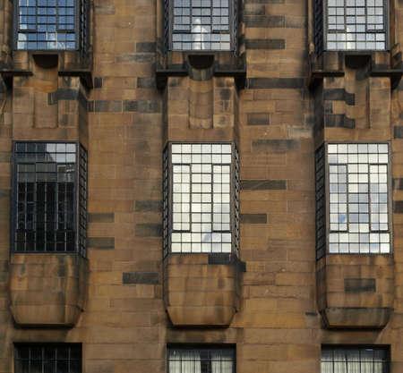 GLASGOW, UK - CIRCA SEPTEMBER 2010: Glasgow School of Art designed by Scottish architect Charles Rennie Mackintosh in 1896, seen before the recent major blaze