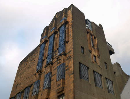 GLASGOW, UK - CIRCA SEPTEMBER 2010: Glasgow School of Art designed by Scottish architect Charles Rennie Mackintosh in 1896, seen before the recent major blaze Editorial