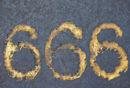 Number 666 called the Number of the Beast in the Book of Revelation of the New Testament in the Bible