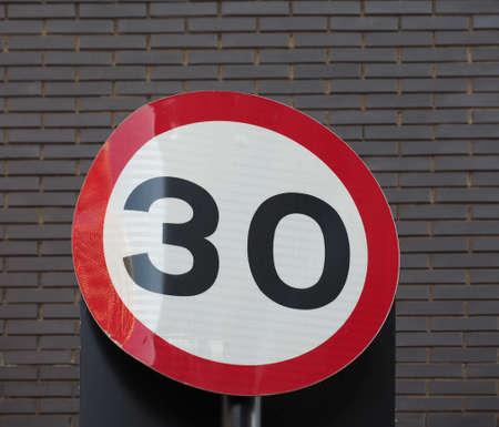 Regulatory signs, maximum speed limit traffic sign